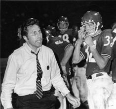 Lee Corso, University of Louisville football coach, on the sidelines, 1969. :: U of L Images