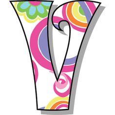 Buchstabe - Letter V Alphabet Templates, Alphabet Stencils, Alphabet Art, Alphabet And Numbers, Letter Art, Monogram Alphabet, Applique Letters, Letter Symbols, Origami Paper Art