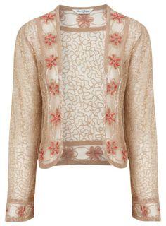 Flower Embellished Jacket