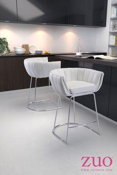 Zuo Modern 100250  Latte Counter Chair Orange (Set of 2)