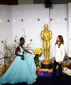 Jared Leto and Lupita Nyong'o - 86th Annual Academy Awards THIS IS SUCH A PERFECT MOMENT!