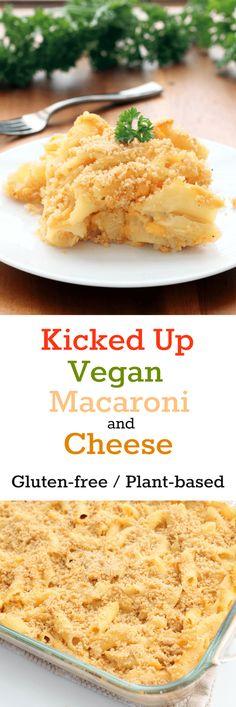 Kicked Up Vegan Mac & Cheese Collage