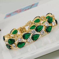 EUR € 34.99 - Fashion Zircon Champagne Gold Bracelets(Ocean Blue&Dark Green&Rose&Blue&Fuchsia)(1 Pc), Frete Grátis em Todos os Gadgets!