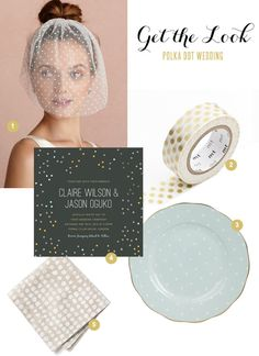 Polka dot wedding inspiration