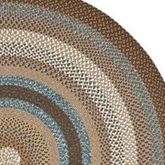 Hand Woven Country Living Reversible Brown Braided Rug (6u0027 Round) For Under