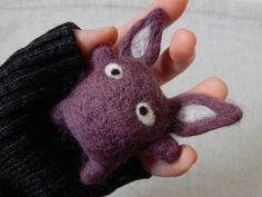 wool felted cute alien