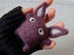 wool felted cute alien