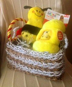 BEE HAPPY Dog Gift Basket by HappyDogGoodies on Etsy