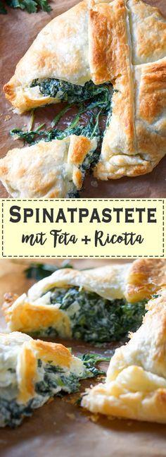 Ein rustikales, einfaches und vegetarisches Rezept für Spinatpaste mit viel Spinat, Ricotta, griechischem Feta-Käse, Petersilie, Dill, etwas Zitronenschale und eine Prise Chiliflocken. Dieses Rezept für Spinatpastete mit Feta und Ricotta gehört zu meinen Lieblingsgerichten in Bezug auf Wohlfühlessen. Das muss daran liegen, dass es extrem lecker schmeckt. Ok, Blätterteig-Gerichte schmecken immer lecker. Gesund, Einfache Rezepte - Elle Republic