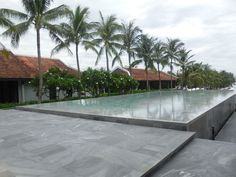 """Raised swimming pool with """"grey marble"""" tiles"""