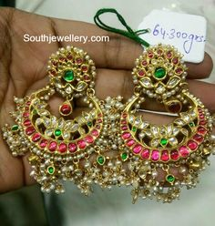 Royal look thamarai chandbali in pure silver with plating WhatsApp : Indian Jewellery Design, Indian Jewelry, Jewelry Design, Ethnic Jewelry, Silver Jewelry Box, Wedding Jewelry, Silver Ring, Jewellry Box, Wedding Gold