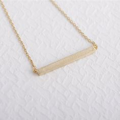 Square Bar Clavicle Necklace