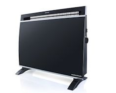 Black Wall Mount Panel Heater – e-Stolo Price: Compact design with tempered glass finish. Two heat/power settings. Electrical Appliances, Home Appliances, Black Walls, Innovation Design, My Dream, Wall Mount, Household, Ceramics, Glass