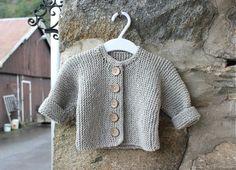 Håndstrikket babyjakke i merinoull, str. The 100, Beige, Knitting, Sewing, Sweaters, Inspiration, Fashion, Threading, Dressmaking