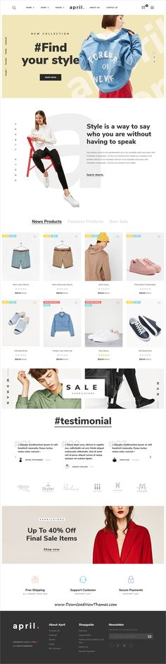 April is clean, stylish and modern design responsive #PrestaShop #theme for stunning #fashion store #eCommerce website with 18+ niche homepage layouts and SEO optimized to live preview & download click on image or Visit