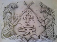 Ankh Tattoo, Anubis Tattoo, Egypt Tattoo, Sanskrit Tattoo, Leg Tattoos, Body Art Tattoos, Tattoo Drawings, Sleeve Tattoos, Script Tattoos