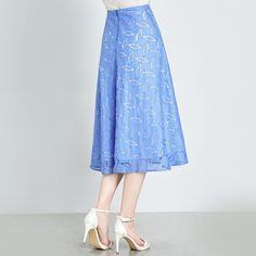 Oversized Seen Through Blue Skirt - OACHY The Boutique #oachy, #skirt, #through, #boutique, #seen