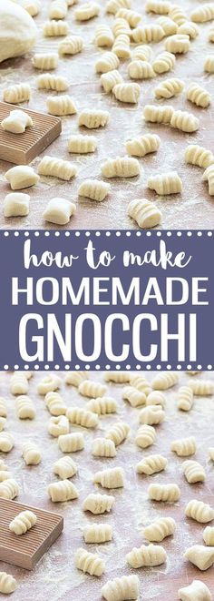 Making homemade potato gnocchi from scratch is very easy and they taste better than store-bought! You only need 2 ingredients for this recipe.