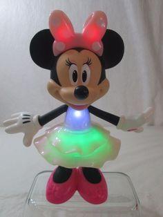 Disney Rainbow DazzleTalking Light Up Minnie Mouse Fisher Price Plastic Doll #Disney