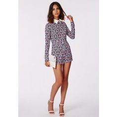 Josy Baroque Romper - Rompers & Jumpsuits - Missguided