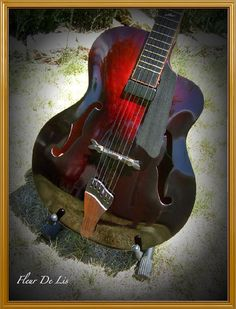 Violin-finished Archtop Custom Jazz Guitar... like the tailpiece