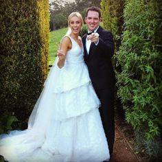 Sylvia Jeffreys wore a custom Rebecca Vallance gown during her lavish wedding to Peter Stefanovic on Saturday. Celebrity Couples, Celebrity Weddings, Yes To The Dress, Wedding 2015, Wedding Couples, Wedding Pictures, Wedding Inspiration, Wedding Ideas, Glamour