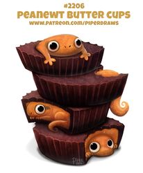 Daily Paint Peanewt Butter Cups by Cryptid-Creations - Free HD Wallpapers Cute Food Drawings, Cute Animal Drawings Kawaii, Kawaii Drawings, Ghost Drawings, Kawaii Doodles, Cute Doodles, Kawaii Art, Cute Little Animals, Cute Funny Animals