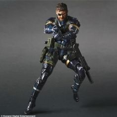 """Square Enix """"Metal Gear Solid V"""" Play Arts Kai Solid Snake Action Figure"""
