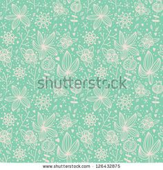 Seamless floral texture. Abstract background with flowers. Floral pattern i retro style. Vector illustration  Image ID: 126432875