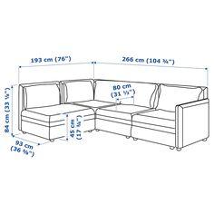 VALLENTUNA Modular corner sofa, 3-seat, with storage/Murum white. Get it today! - IKEA