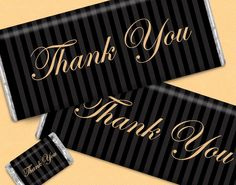 Thank You Chocolate Favors for Your Clients, Employees, Co-Workers, Family and Friends - Shop Personalized HERSHEY'S Bars at whcandy.com.