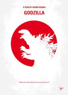 No029-1+My+Godzilla+1954+minimal+movie+poster  American+nuclear+weapons+testing+results+in+the+creation+of+a+seemingly+unstoppable,+dinosaur-like+beast.  Director:+Ishirô+Honda Stars:+Takashi+Shimura,+Akihiko+Hirata,+Akira+Takarada  A+164-foot-tall+(50-meter-tall)+monster+reptile+with+radioactive+breath+is+revived,+thanks+to+nuclear+testing.+It+goes+on+a+mad+rampage,+destroying+Tokyo+-+can+it+be+stopped?+Should+it+be+killed?…