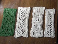 Lace bookmarks. Learn to knit lace.
