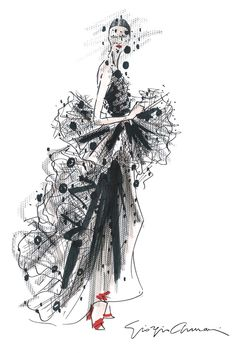 A sketch of Armani Privé for fall. [Courtesy Photo]
