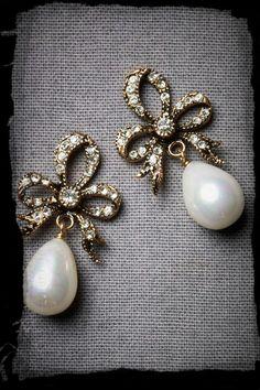 Orecchini di perle e brilanti per la sposa