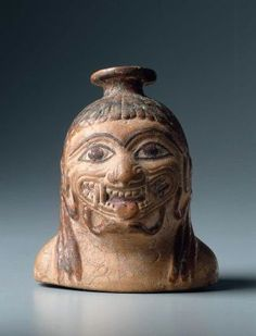 Oil flask (lekythos) in the form of a bust of Medusa