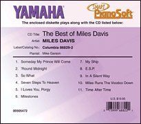 """Smart Pianosoft 3.5"""" Diskette """"The Best of Miles Davis"""" by Yahama. $19.95. Contains 11 Songs Including: Someday My Prince Will Come + 'Round Midnight + So What + Seven Steps To Heaven + I Loves You, Porgy + Milestones + My Ship + E.S.P. + In A Silent Way + Miles Runs The Voodoo Down + Time After Time  Matches CD: Columbia 86829-2"""
