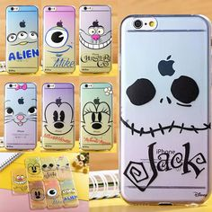 Disney Big Face Clear TPU Soft Rubber Case Dust Plug For iPhone 5S / 6 / 6 Plus #UnbrandedGeneric
