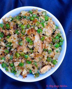 Cauliflower Rice Recipe Rice Recipes, Keto Recipes, Healthy Recipes, Healthy Meals, Vegetarian Recipes, Diabetic Recipes, Vegetable Recipes, Cauliflower Fried Rice