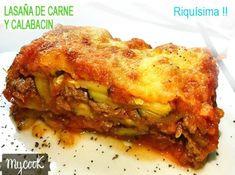 lasaña de calabacín y carne picada Lasagna, Zucchini, Clean Eating, Pasta, Ethnic Recipes, Food, Diabetes, Illustrator, Vegetarian Meatloaf
