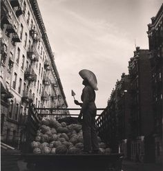 Aaron Siskind - Watermelon Seller, from the project The Most Crowded Block, 1940