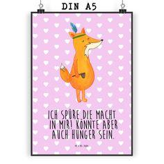 Poster DIN A5 Fuchs Indianer aus Papier 160 Gramm  weiß - Das Original von Mr. & Mrs. Panda.  Jedes wunderschöne Poster aus dem Hause Mr. & Mrs. Panda ist mit Liebe handgezeichnet und entworfen. Wir liefern es sicher und schnell im Format DIN A5 zu dir nach Hause. Die Größe ist 148 x 210 mm.    Über unser Motiv Fuchs Indianer  Die Fox-Edition ist eine besonders liebevolle Kollektion von Mr. & Mrs. Panda. Jedes Motiv ist - wie immer bei Mr. & Mrs. Panda - handgezeichnet und wird in unserer…