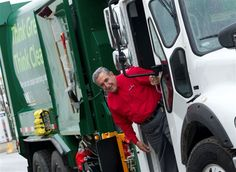 Residents of Ottawa, Canada can look forward to a cleaner and quieter city since Waste Management opened a new Compressed Natural Gas (CNG) fueling station at its Westbrook Road facility and launched CNG trucks to collect waste and recycling. Waste Management also plans to convert its current commercial collection fleet to CNG as part of the company's North American fleet conversion strategy. Featured in the photo on a parked WM CNG truck is the Councillor of Ottawa, Ontario - Eli El-Chantir...