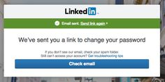 LinkedIn  When you forget your password and give up a gmail.com...