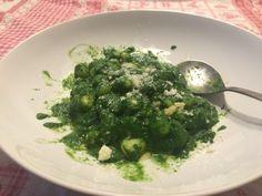 Gnocchetti con crema di spinaci freschi!