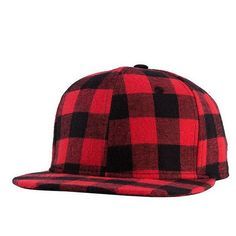 YBZ Black Red Plaid Canvas Cotton Adjustable Snapback Caps For Men Women  Sports Hats Basketball Baseball Caps High Quality f59b36bcfad3
