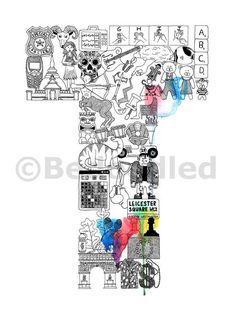 Doodle Heaven Letter O Typography Art Print From BedoodledCoUk