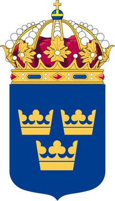 File:Coat of Arms of Sweden Lesser.svg Would love one of these...framed!