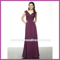 purple bridesmaid dresses long
