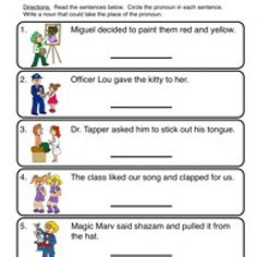 History Worksheets For 4th Grade Word Nouns And Pronouns Worksheet  Grammar  Pinterest  Pronoun  Letter P Preschool Worksheets Word with Free Printable School Worksheets Word Pronouns Worksheet   More Pronouns Wrap Worksheets